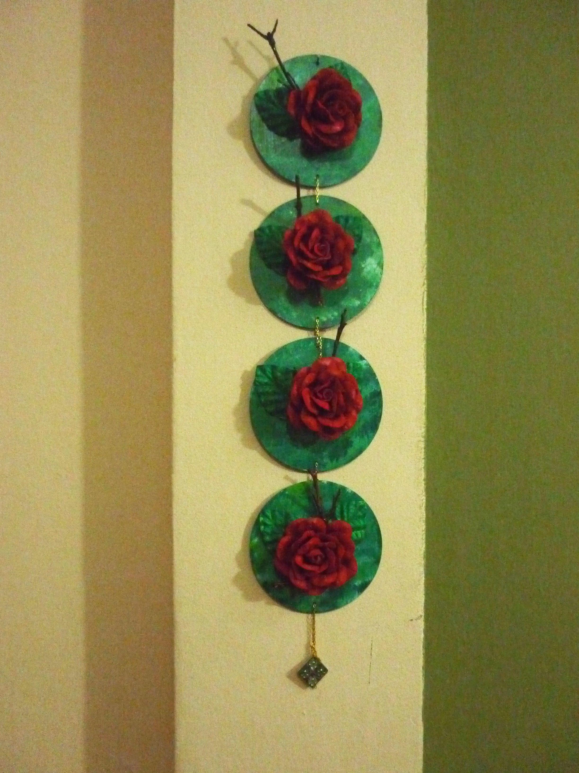 CD e flores de eva. | ramos de flores | Pinterest | Decoupage and Craft