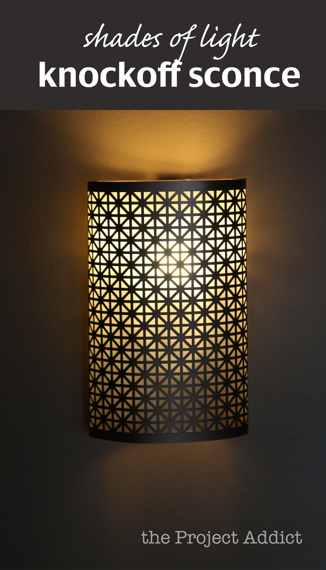 shades-light-knockoff-sconce1.jpg (1077×1881) | Duvar aplikleri ... for Diy Wall Sconce Shade  156eri