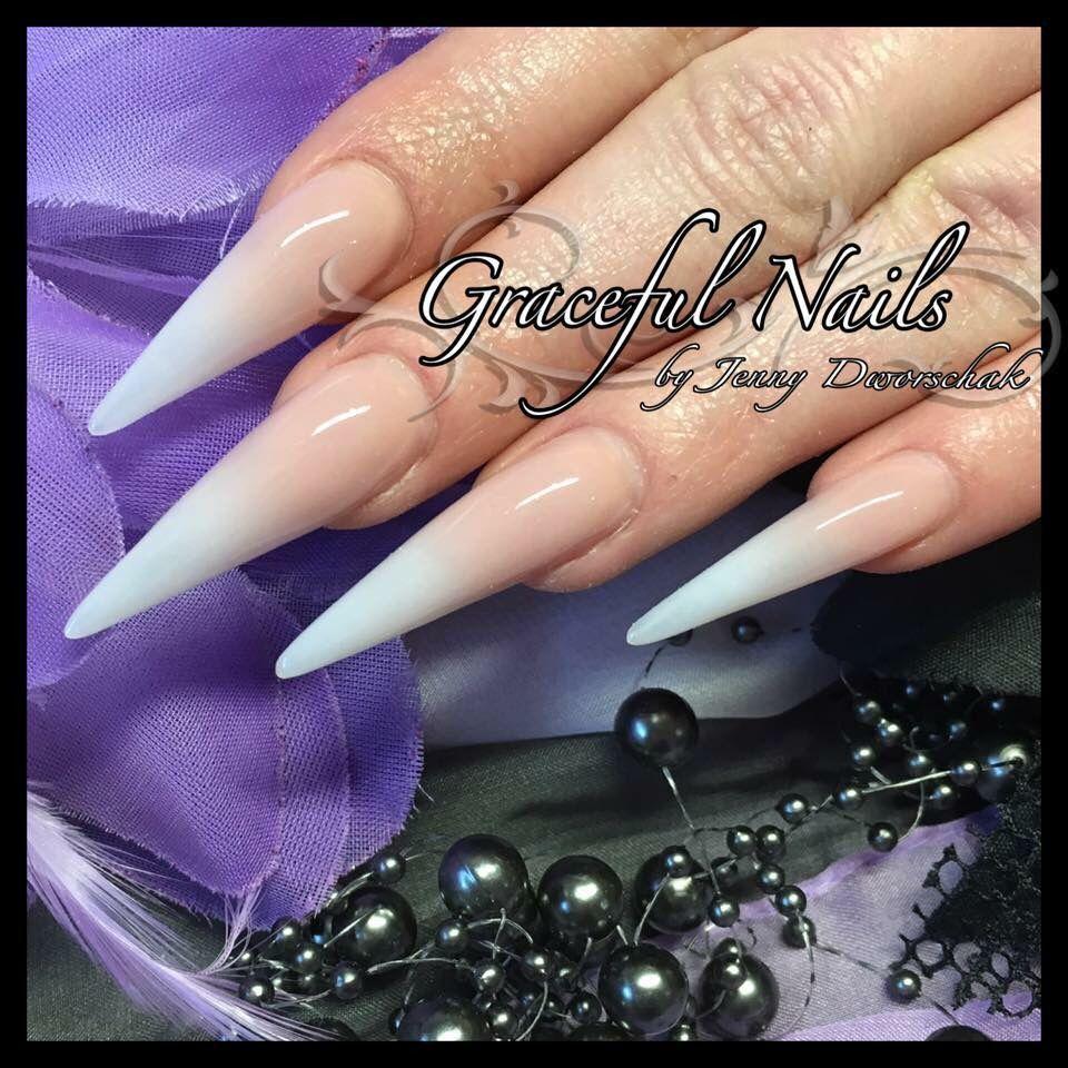 Babyboomer Stiletto Nails Naildesign Acryl Nägel lang | Cool nails ...