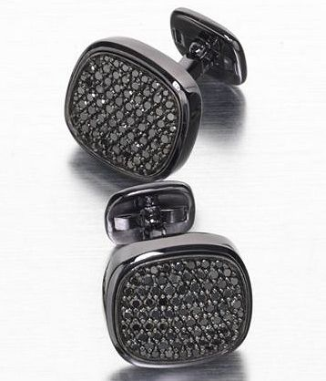 David Yurman black diamond cufflinks to go with my business-middle-finger attitude. For the good bad days.