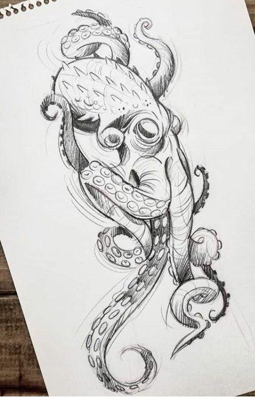 Dessin Octopus Tattoo Design Octopus Tattoos Octopus Tattoo Sleeve
