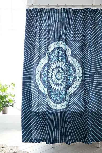 Magical Thinking Neela Batik Shower Curtain With Images Urban