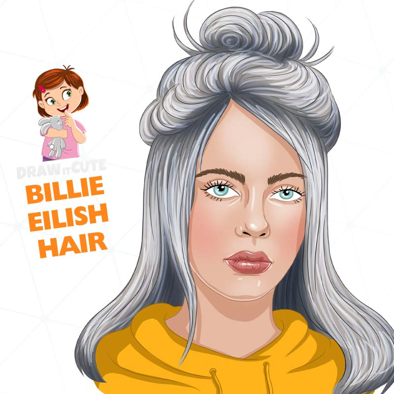 How To Draw Billie Eilish Hair By Drawitcute On Deviantart Billie Eilish Step By Step Hairstyles How To Draw Hair