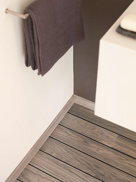 Parquet Flottant QuickStep AUTRE TECK GRIS PONT DE BATEAU - Parquet quick step salle de bain