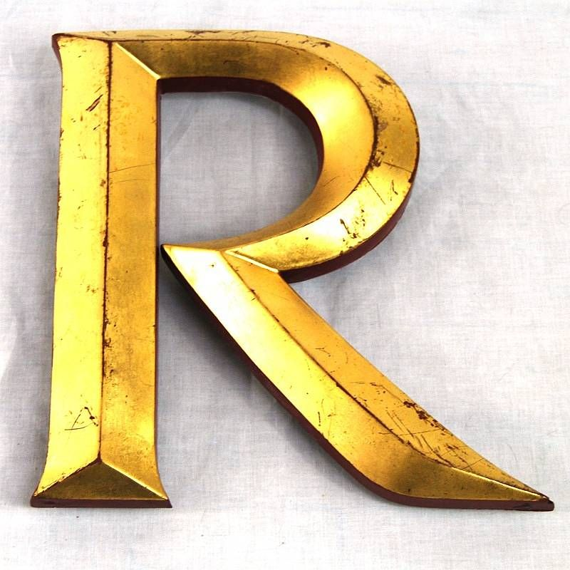 Vintage Gold Leaf Display Letters Architects