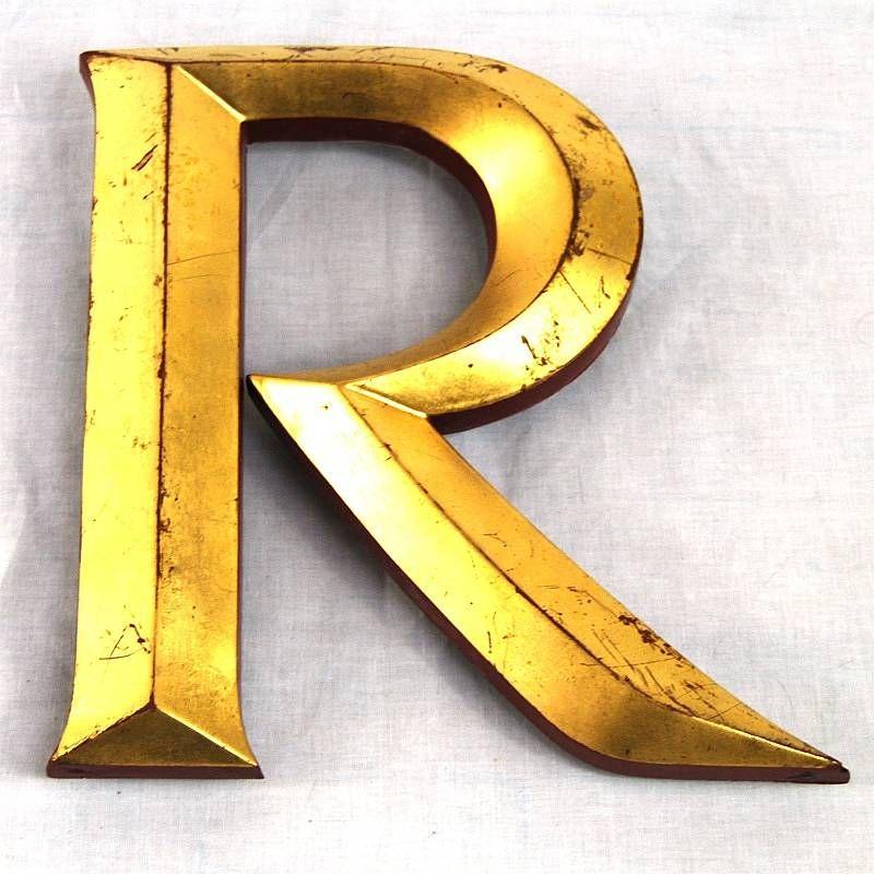Vintage Gold Leaf Display Letters Architects