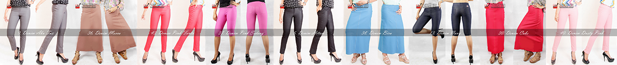 Zetha Factory Outlet Di Platform Lazada Ready Celana Panjang Wanita Legging Jeans Denim Rok Panjang A Line Celana Panjang Wanita Rok Panjang Celana Panjang
