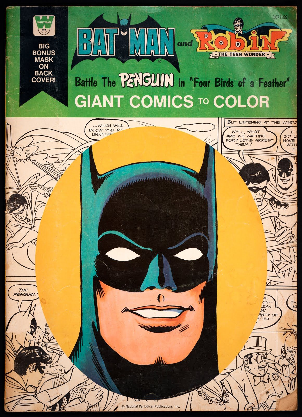 Giant Whitman Coloring Book Batman