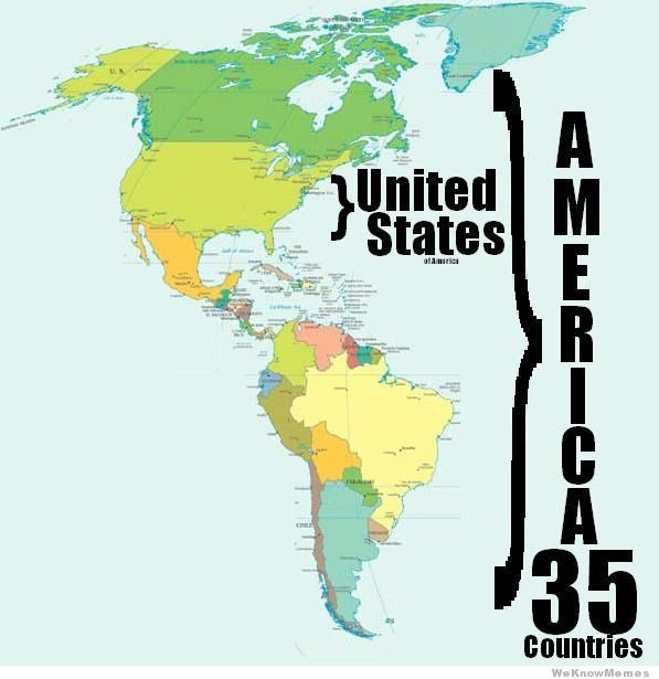 America Is 35 Countries Geograf�a Del Mundo Hispano Hablante: United States South America Map At Codeve.org