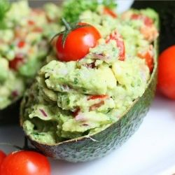 Guacamole boats. Clever way to serve guac!