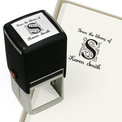 Zallman Square Design Self-Inking Stamper would be a great personalized touch to the graduate's collection! Use it for school books, notepads, notebooks, or even envelopes, and the monogrammed initial is a great way to stand out from the crowd!
