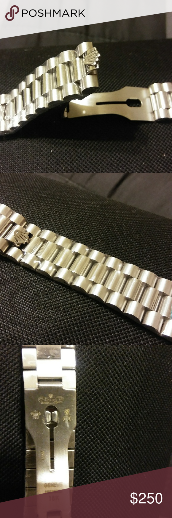 Mens mm swiss president rolex band brand new in plastic stainless