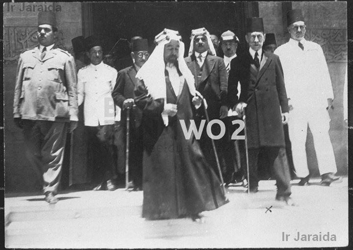الملك عبدالله الأول بن الحسين في مصر ايام الملك فؤاد الاول Photo Egypt History