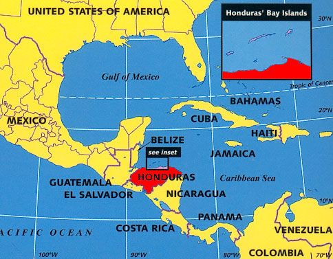 Honduras On A Map Honduras On A Map | compressportnederland Honduras On A Map