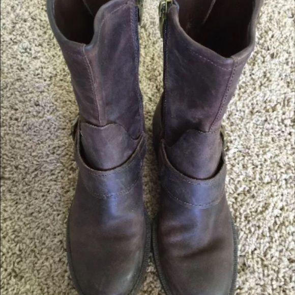 "Selling this ""Enzo Angiolini Sahara brown leather bike boot sz 5"" in my Poshmark closet! My username is: charlies_closet. #shopmycloset #poshmark #fashion #shopping #style #forsale #Enzo Angiolini #Boots"