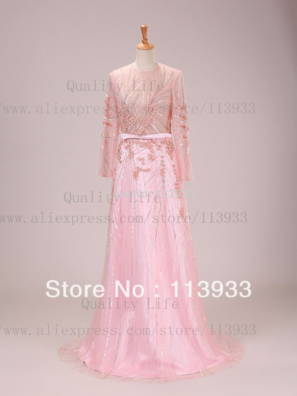real photos pink champagne sexy muslim luxury crystals beaded