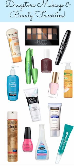 Drugstore makeup & beauty favorites! (Pin & Save!) #sp