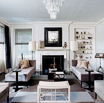glamorous living room with neutral colour tones of white, cream
