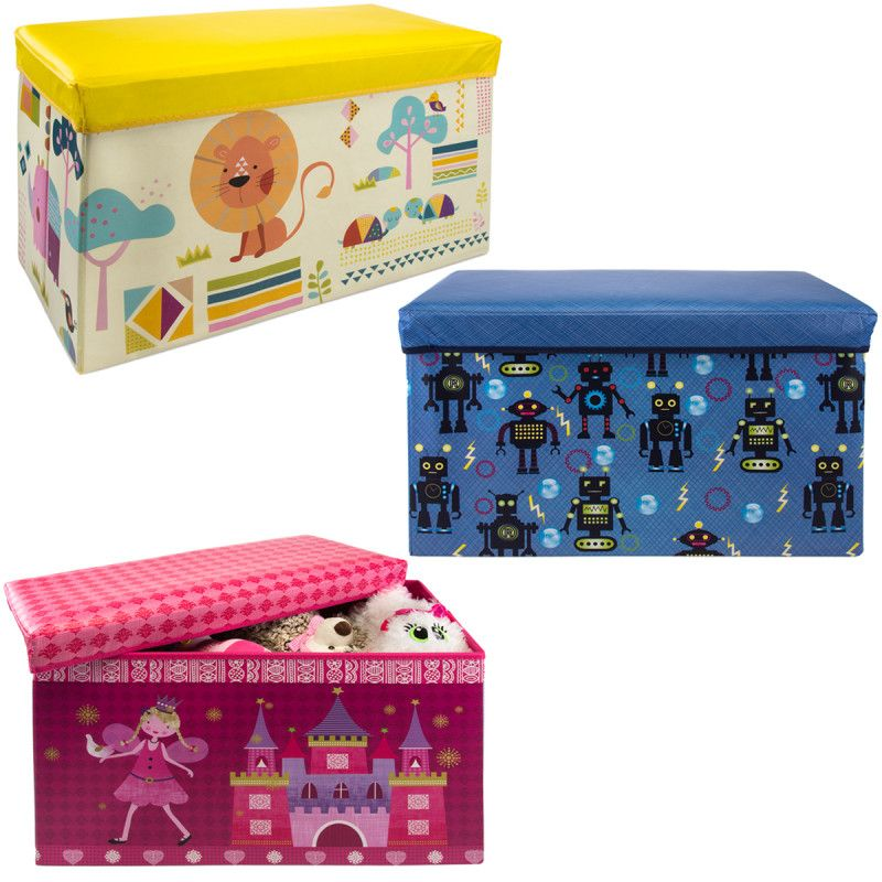 Kids Collapsible Ottoman Toy Books Box Storage Seat Chest: Collapsible Storage Bench Ottoman