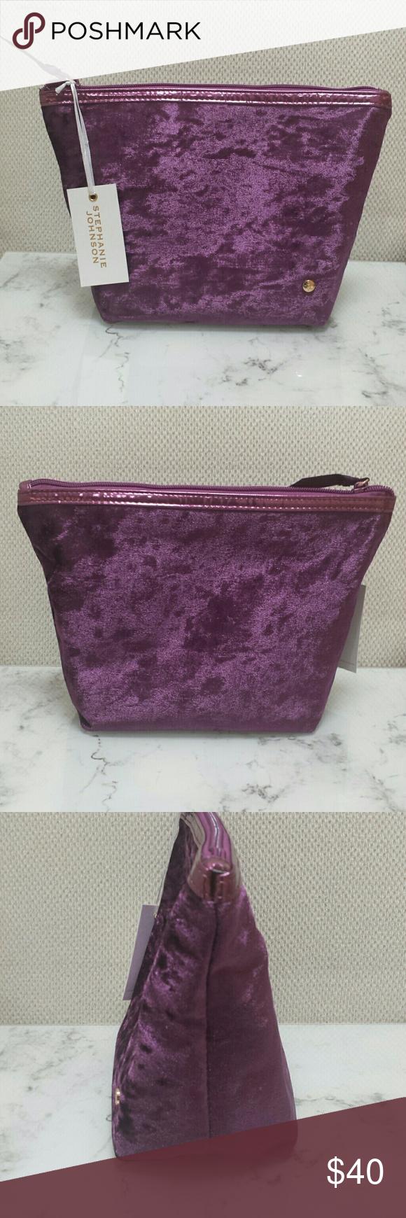 Stephanie Johnson Laura Trapezoid Cosmetics Bag Bag is new
