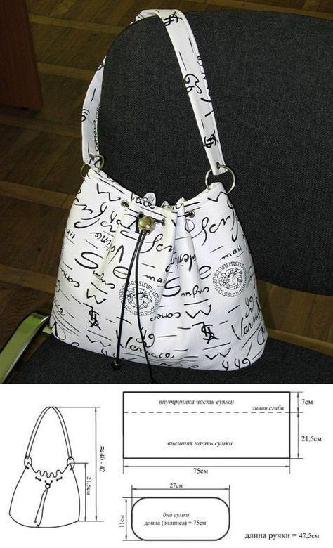 сумки | Carteras de cuero | Pinterest | Patrones, Bolsos y Costura