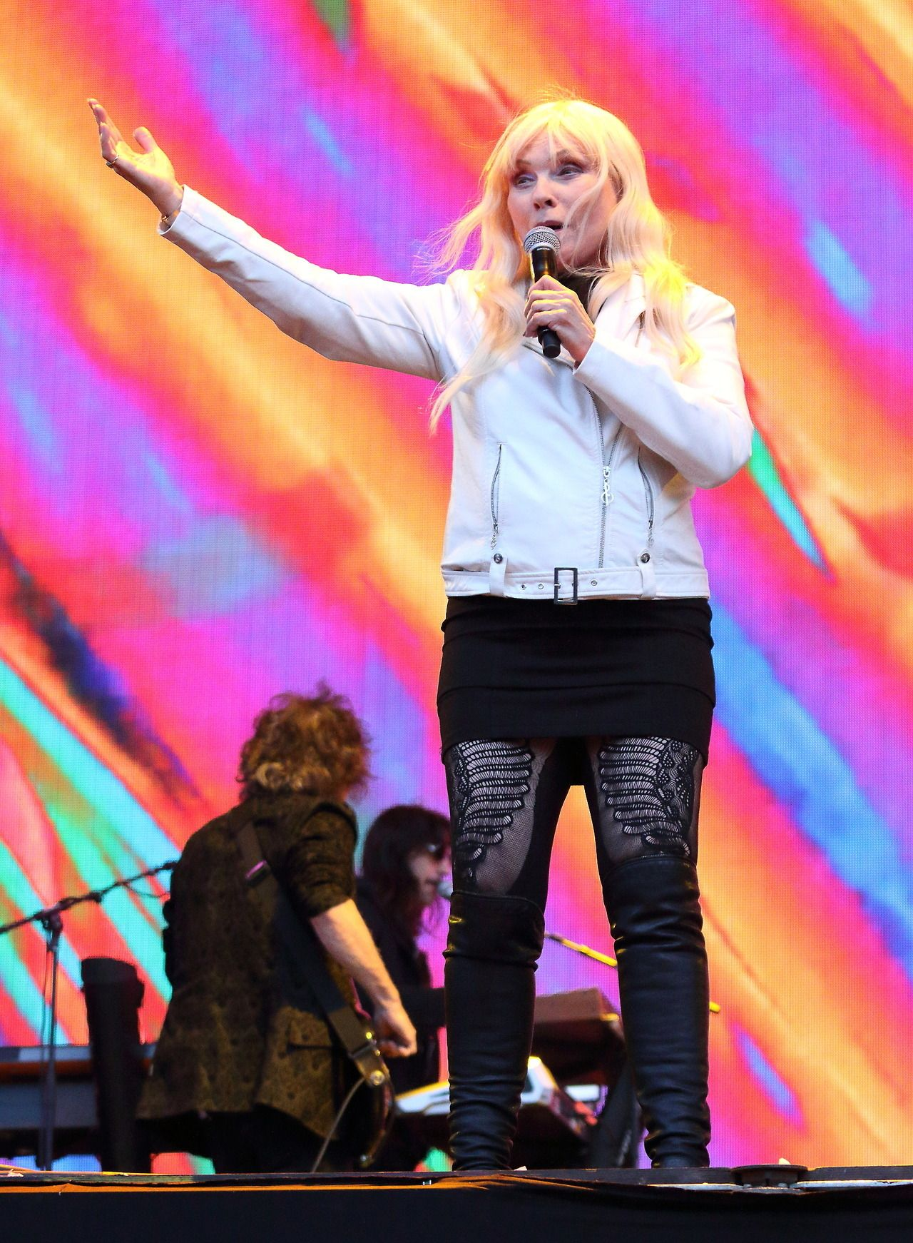 Blondie performs at BBC Radio 2 Live in Hyde Park, London