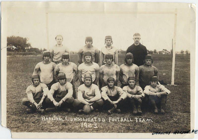 Harlem consolidated high school football team 1923 high