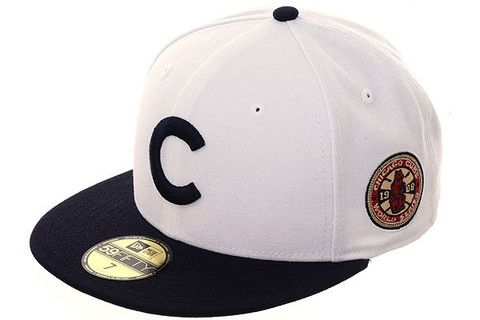 72d6b6b16055ec New Era 59Fifty Chicago Cubs 1908 World Series Fitted Hat - 2T White, Navy