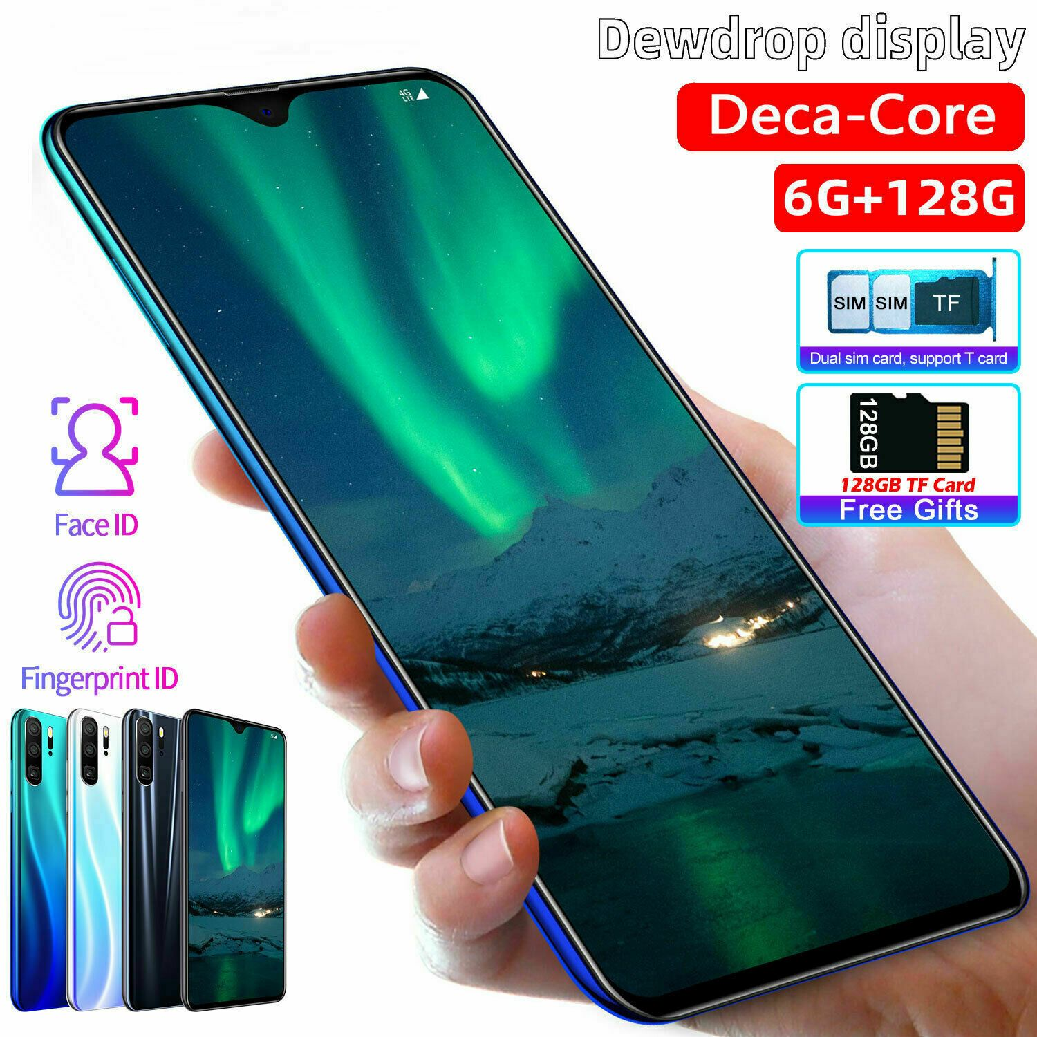 P30 Pro 6 3 Android 9 0 Phone 6gb 256gb Dual Sim Smartphone Free Tf Card 128g Smartphones For Sale Smartphone Products Glass Screen Protector Iphone
