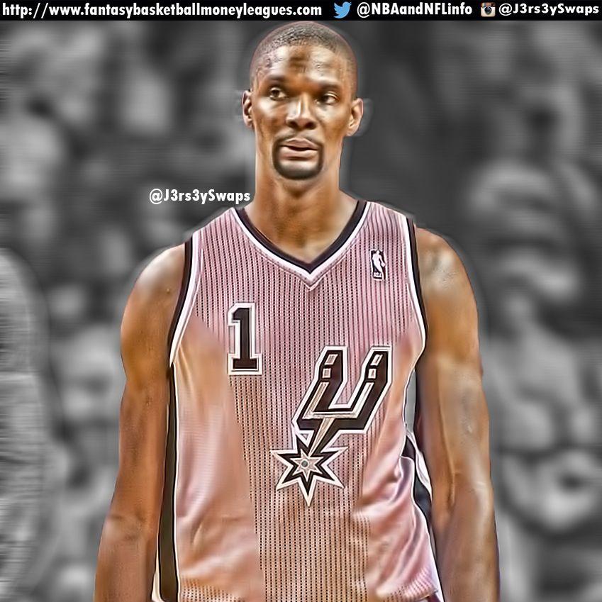 San Antonio Spurs Nba: NBA Edits: Chris Bosh In A San Antonio Spurs Jersey