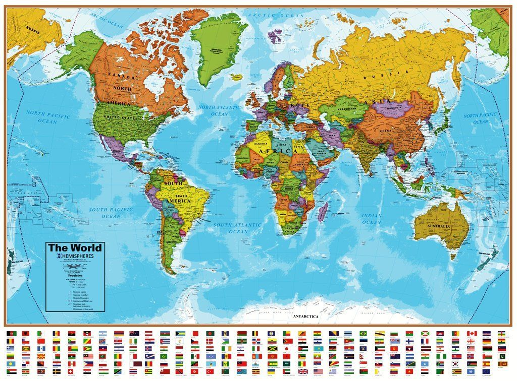 National geographic usa world laminated maps executive 2 wall national geographic usa world laminated maps executive 2 wall poster map set great for gumiabroncs Gallery