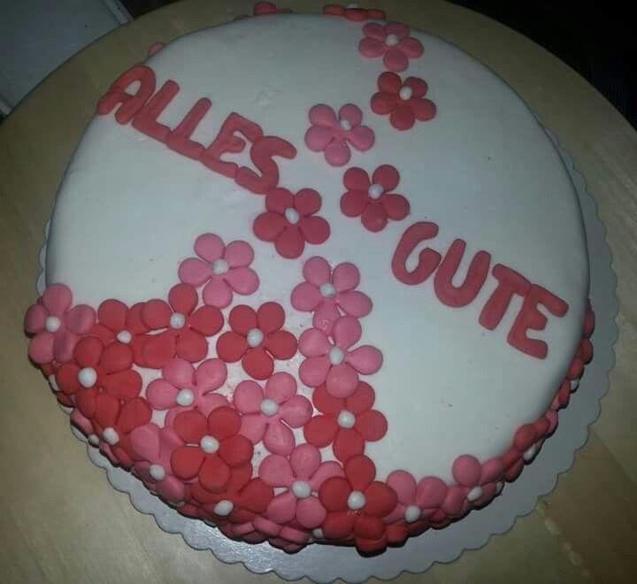 Birthday Flower Fondant Cake