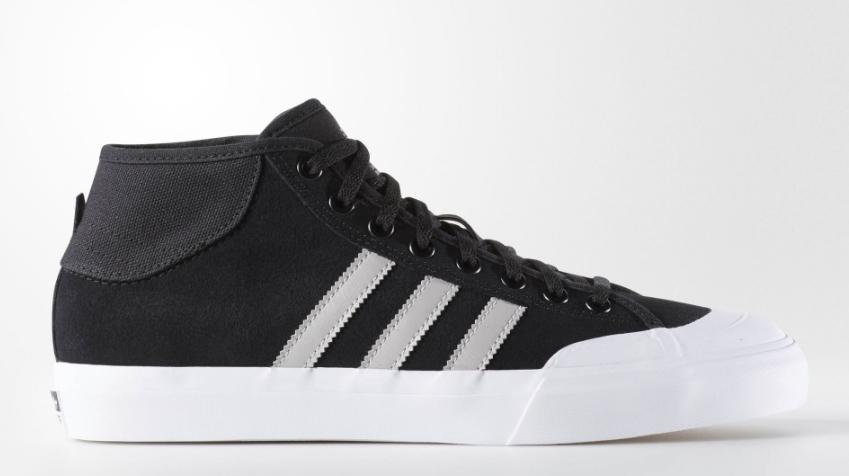 Adidas Matchcourt Mid ADV Shoes - Core Black Light Solid Grey Running White 678ea950b