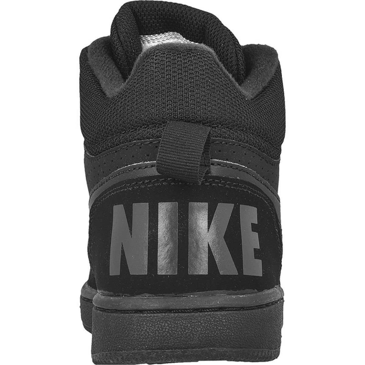 Buty Nike Sportswear Court Borough Mid Gs Jr 839977 001 Czarne Nike Sportswear Nike Shoes Women Sportswear