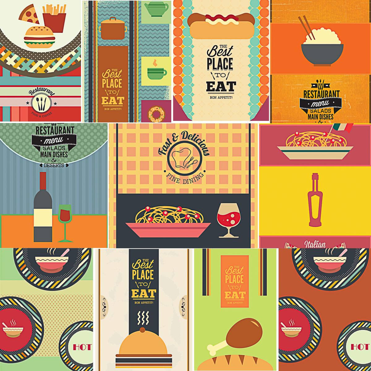 Restaurant And Cafe Menu Templates Set Vector  Free Vector Clip