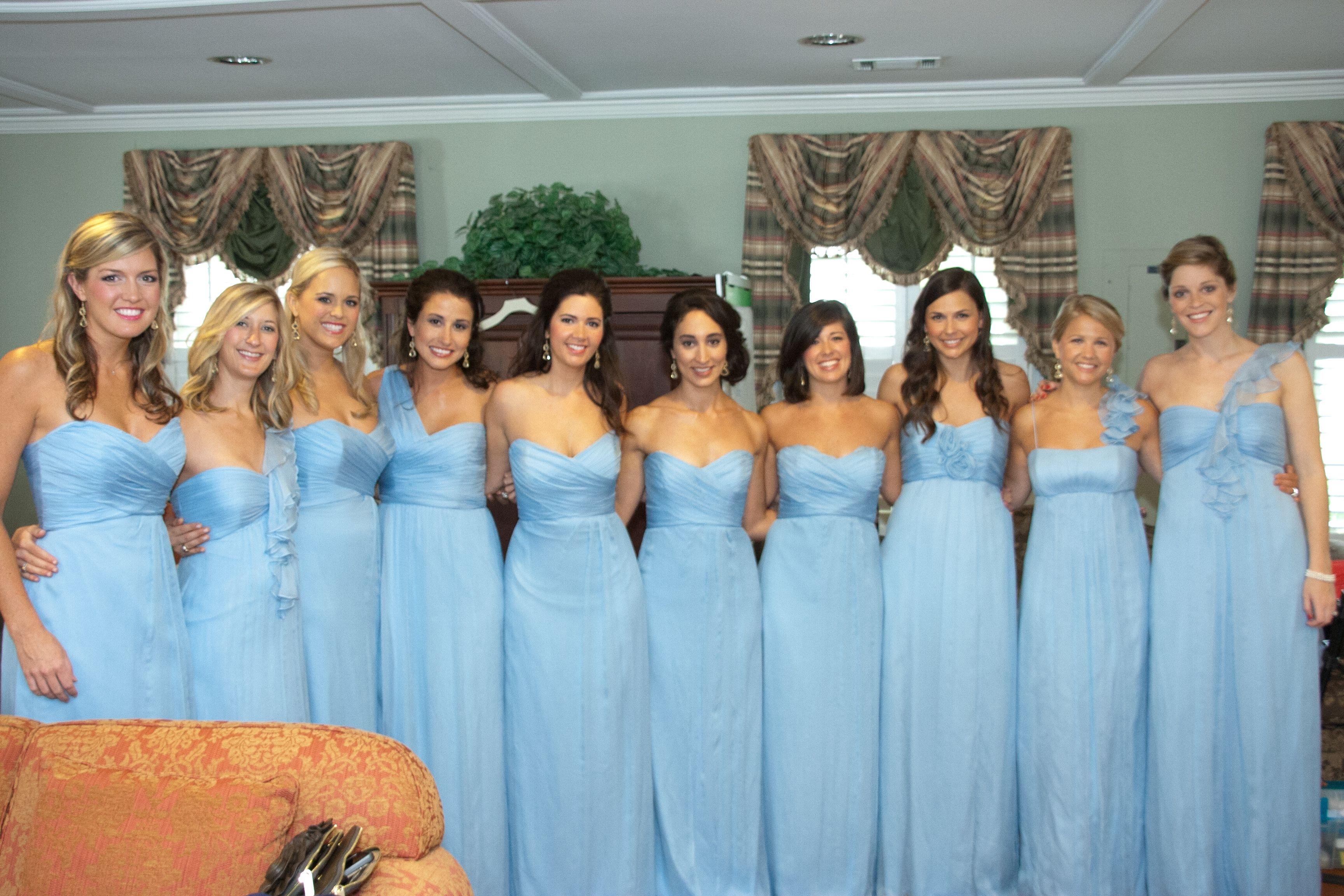 Sky blue, different styles   dream wedding   Pinterest   Bridal ...