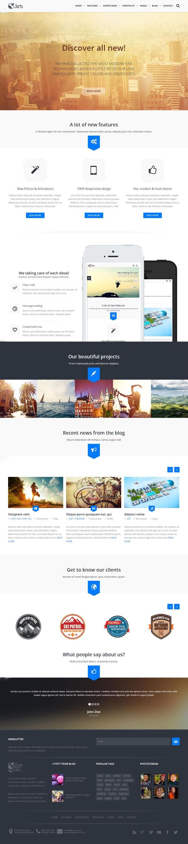 Cinergy Modern Business Html Template Ui Ux Ui Design And