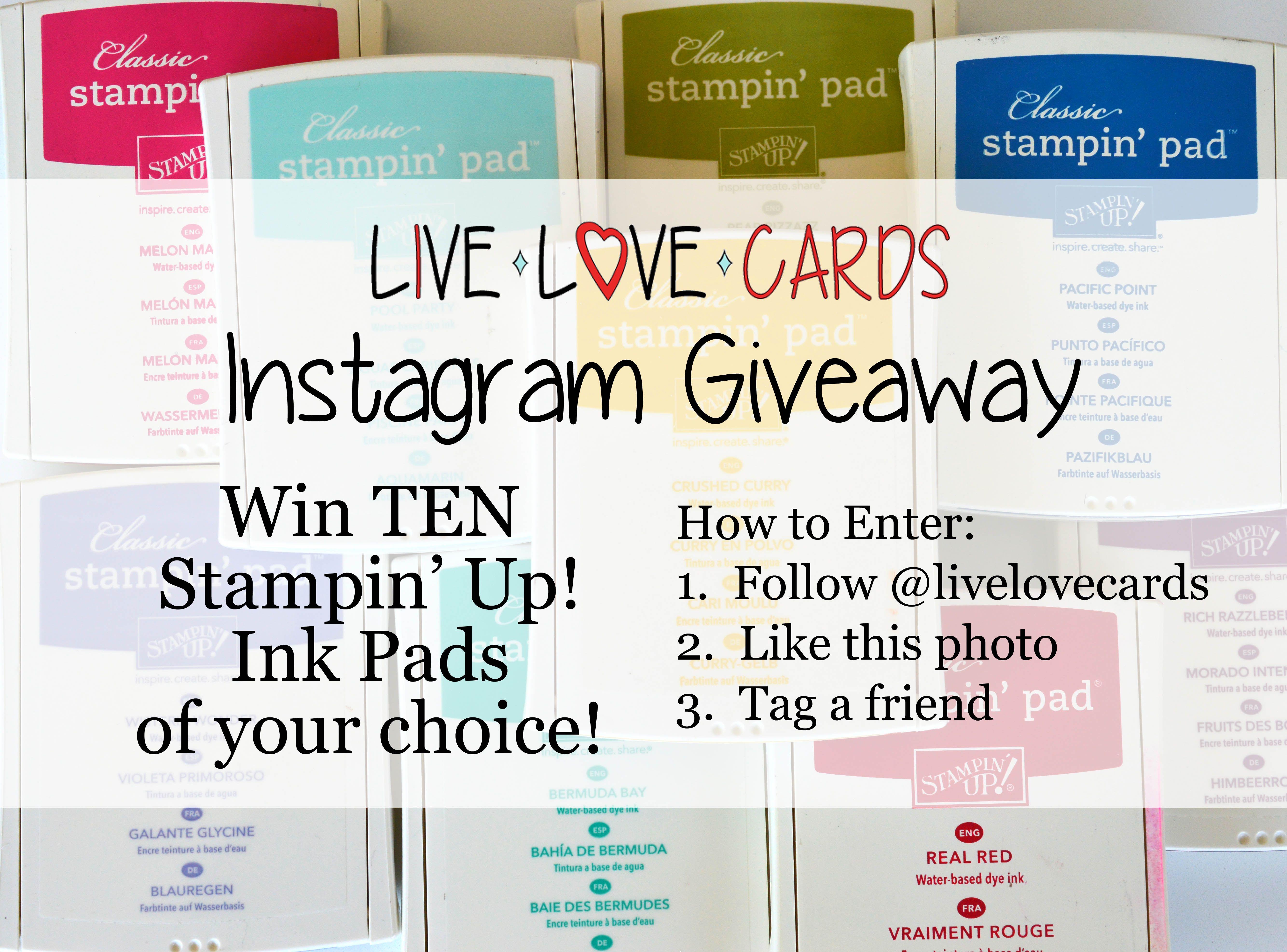 I'm having an Instagram giveaway!