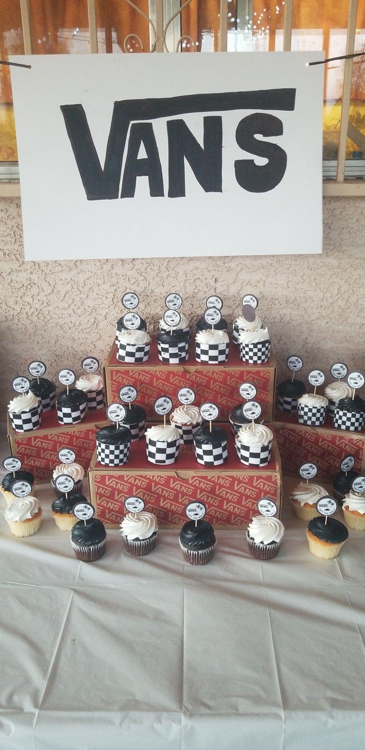 d8d7137801 Vans inspired cupcakes!