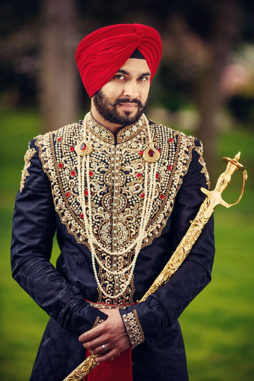 punjabi groom. (deo studios) | Wedding Stuff | Pinterest | Sherwani ...