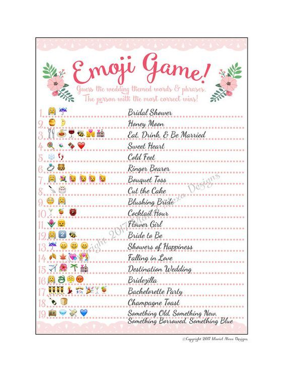 graphic about Emoji Bridal Shower Game Free Printable named Pin upon Plans