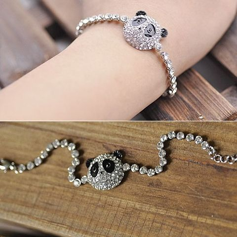 Korea Fashion Personlized Rhinestone Panda Bracelet