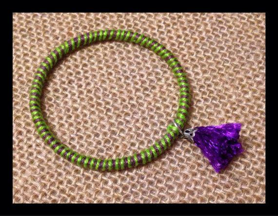 Woven thread baby bangle