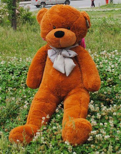 114a82fb183 Giant Brown Stuffed Bear Cute Big Teddy Bears with Bows