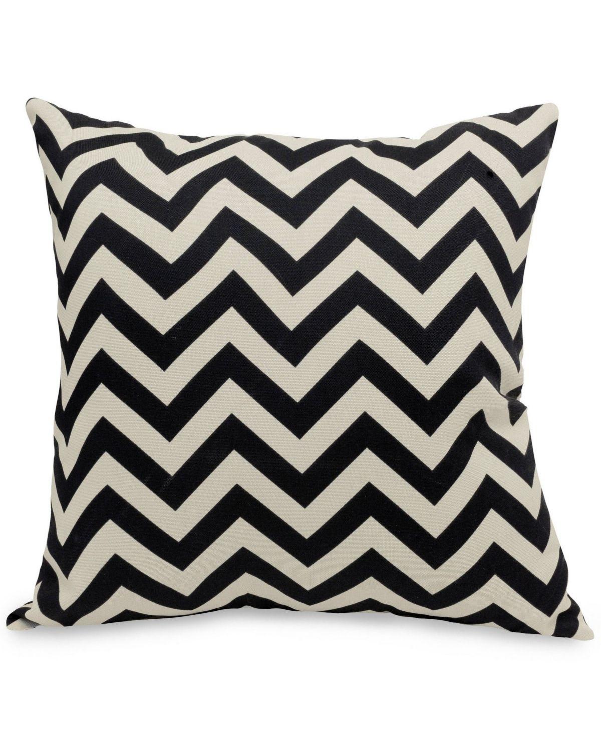 Majestic Home Goods Chevron Decorative Soft Throw Pillow Large 20 X 20 Black Pillows Throw Pillows Soft Throw Pillows Extra large throw pillows