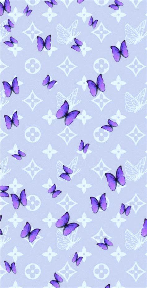 #flowers | Butterfly Wallpaper Iphone, Purple Wallpaper