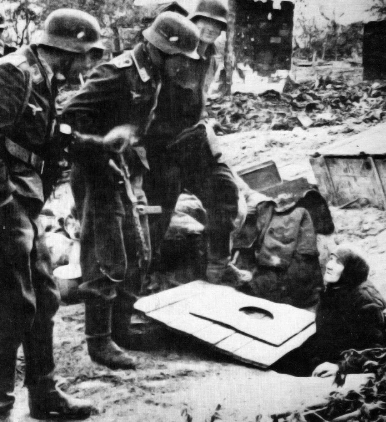 Russia Map After Ww2%0A German soldiers discover an old Russian woman living underground in the  necropolis of Stalingrad  Oct