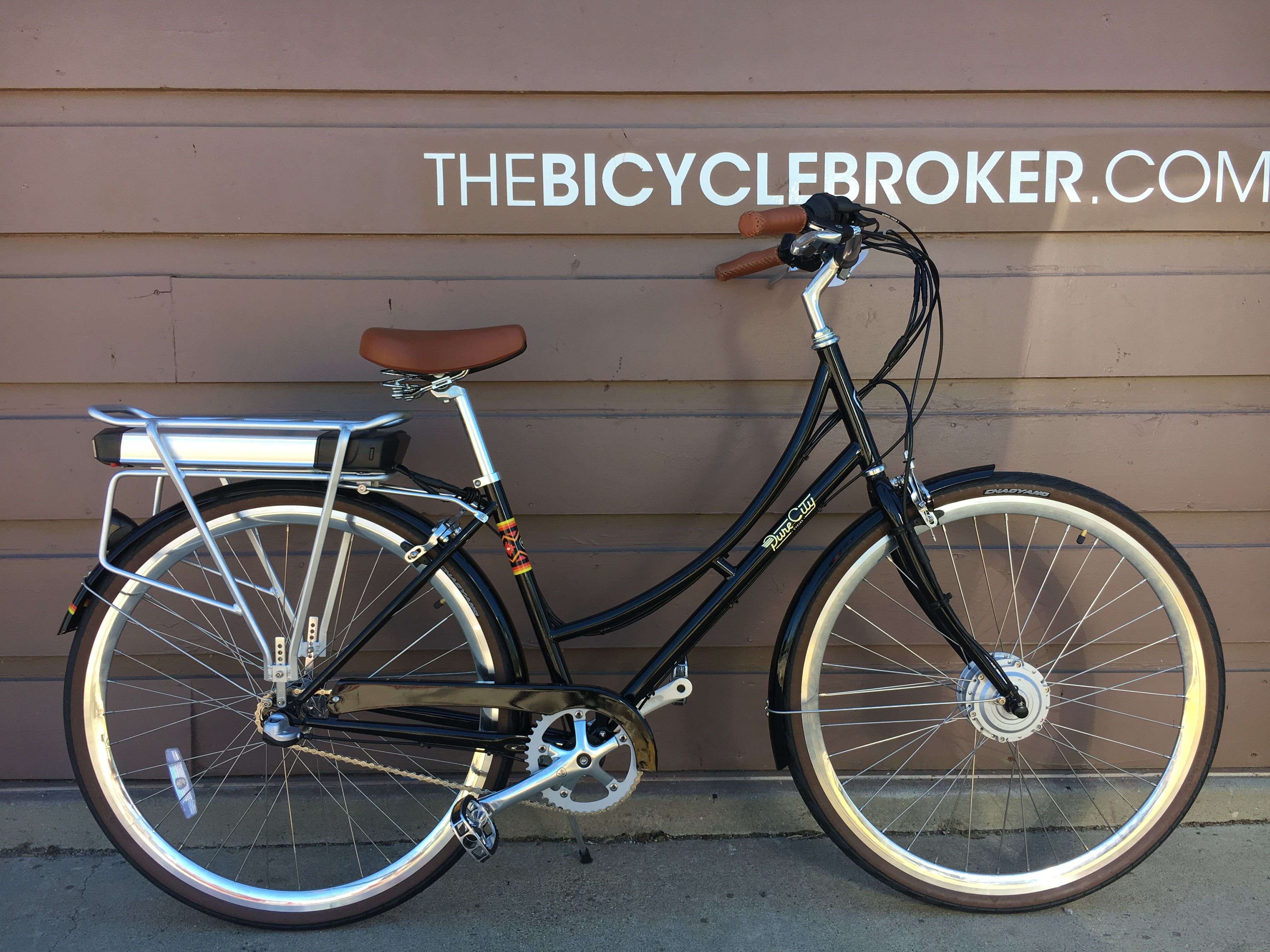 Ebo Cruiser Electric Bike Conversion Kit Installed On A Pure City Step Through Electric Bike Conversion Electric Bike Bike