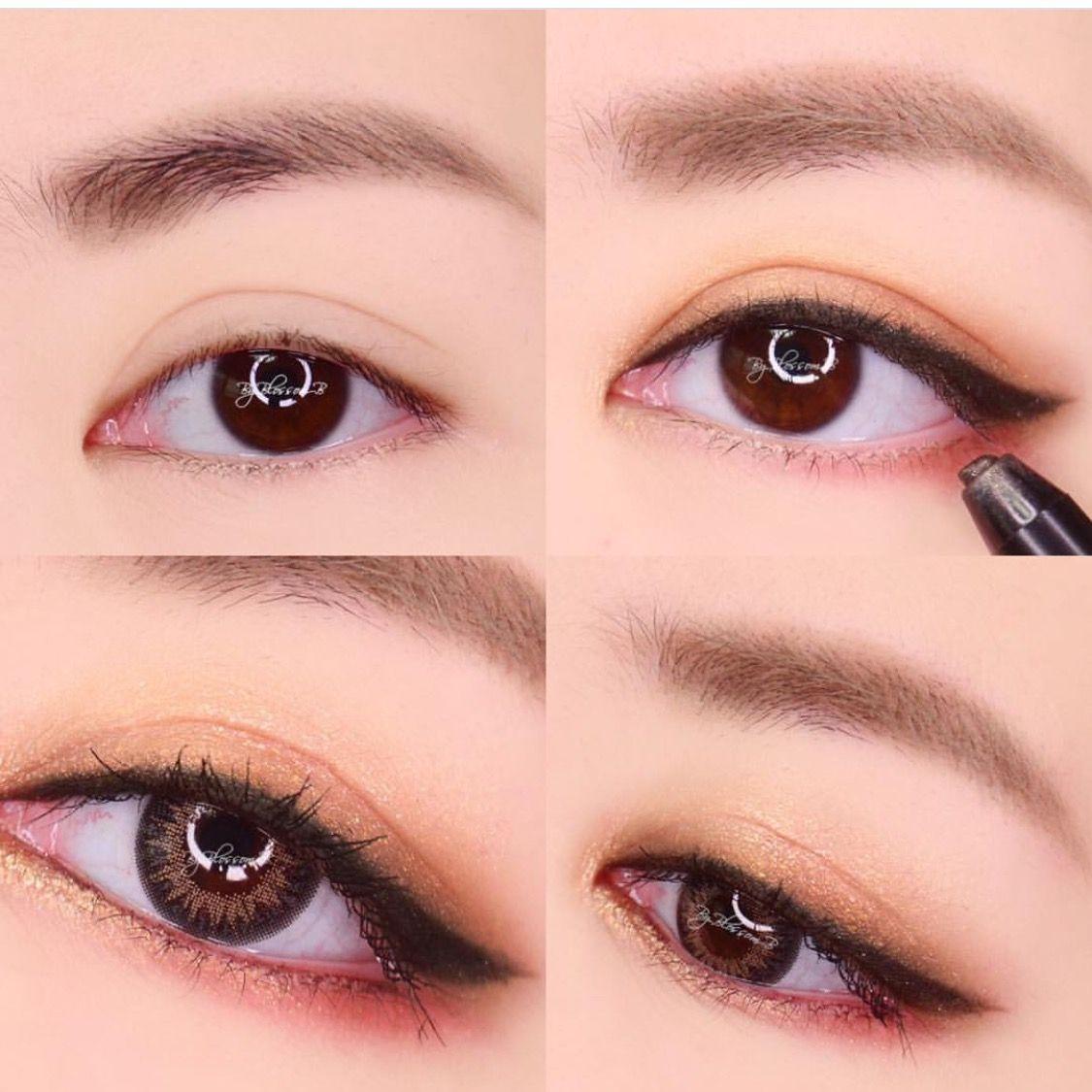 JENNIE insp make up Азиатская макияж глаз, Японский