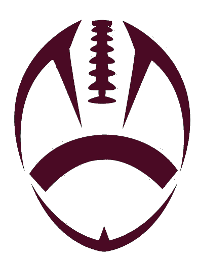 football outline maroon football cut free images at clker com rh pinterest com